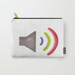 Rainbow Volume Icon Carry-All Pouch