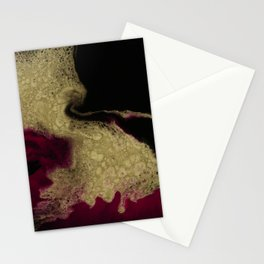 Black Honey - resin abstract painting Stationery Cards