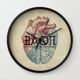 Love is...heart and reason Wall Clock