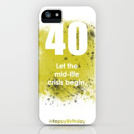 AgeIsJustANumber-30-GreyLimeA iPhone Case