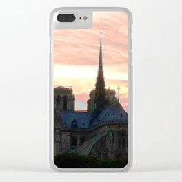 Notre Dame de Paris Clear iPhone Case