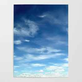 Blue Sky | Clouds | Spiritual | Zen | Nadia Bonello Poster