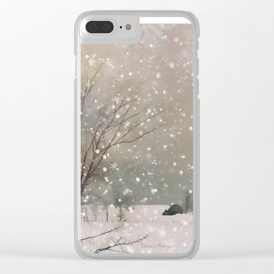 Snowfall Clear iPhone Case