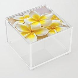 Plumeria Blossoms Acrylic Box