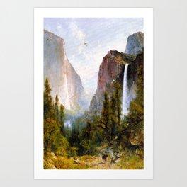 Bridal Veil Fall Yosemite Valley 1892 By Thomas Hill | Reproduction Art Print