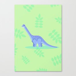 Brontosaurus, There When You Can't Reach the Shelf Above the Fridge Canvas Print