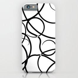 Motif Abstrait Lignes iPhone Case