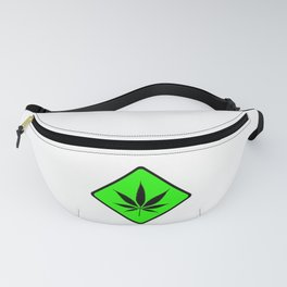 Weed Cannabis art work 420 pot head gift Fanny Pack