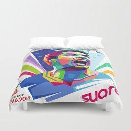 Luis Suarez Wold Cup 2018 Edition Duvet Cover