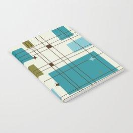 Mid-Century Modern (teal) Notebook