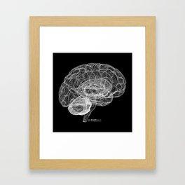 DELAUNAY BRAIN b/w Framed Art Print