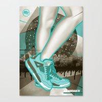 air jordan Canvas Prints featuring Air Jordan IV by Maurice Creative