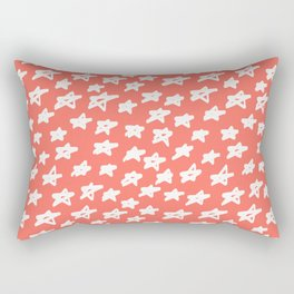 Stars Living Coral Rectangular Pillow