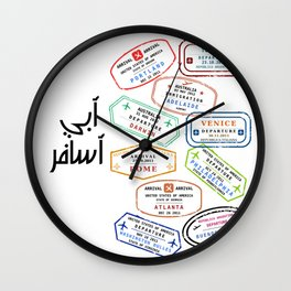 want to travel Wall Clock