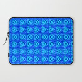 Striped blue hearts on a heavenly background. Laptop Sleeve