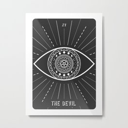 Minimal Tarot  Deck The Devil Metal Print
