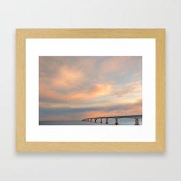 Sunset Sky Bridge Framed Art Print