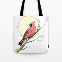 cardinal Tote Bags featuring Cardinal by Eric Weiand
