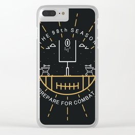 Prepare for combat - 98th season NFL Clear iPhone Case