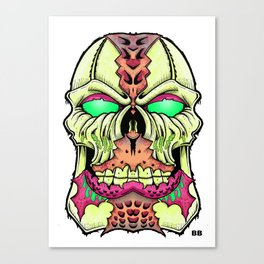 flesh head Canvas Print