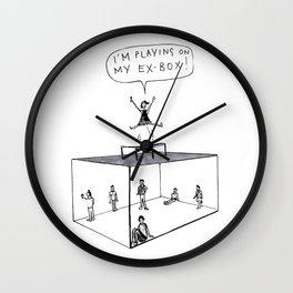 I'm Playing on my Ex-Box! Wall Clock