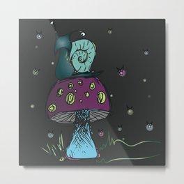 Magical Snail Metal Print