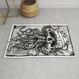 octopus black Rug