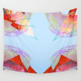 Triangles in red Wall Tapestry