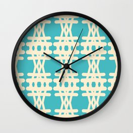 Doodle Woven Pattern Wall Clock
