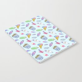 Cute candy and ice-cream pattern Notebook