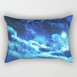 Blue on Moon Rectangular Pillow