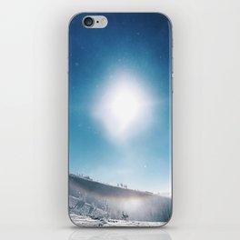 Ice Crystals Reflecting a Sundog iPhone Skin