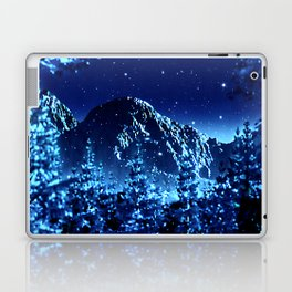 moonlight winter landscape Laptop & iPad Skin