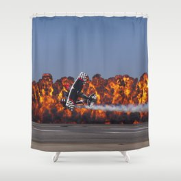 Flight and Flame Shower Curtain
