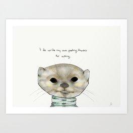 ollie otter Art Print