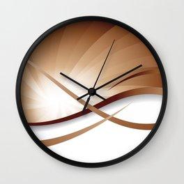 Ruhe - Brauntöne Wall Clock