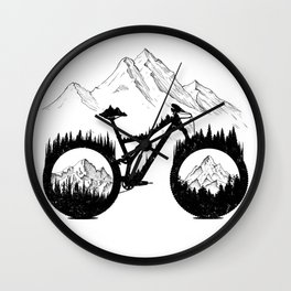 Enduro Mountains Wall Clock