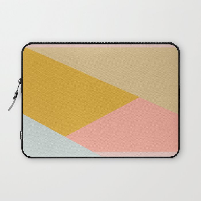 Large Triangle Pattern in Soft Earth Tones Laptop Sleeve