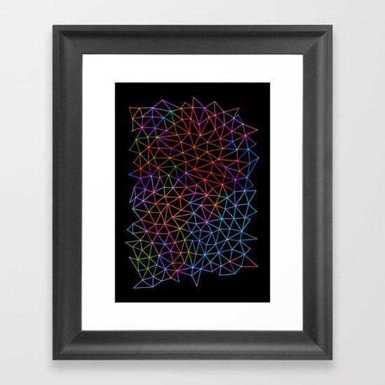 Geometric Glow Framed Art Print