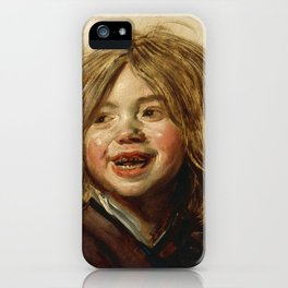 "Frans Hals ""Laughing child"" iPhone Case"
