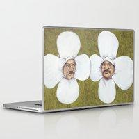 men Laptop & iPad Skins featuring Flower Men by Jason Ratliff