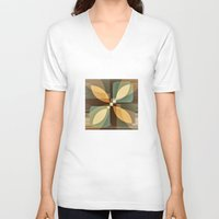 clover V-neck T-shirts featuring clover by Julia Tomova