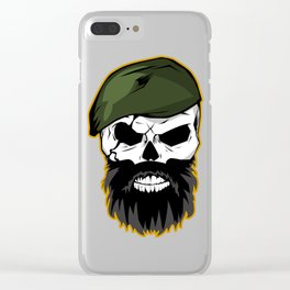 Angry Skull Clear iPhone Case