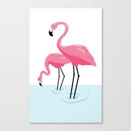 Vacationland 1950s Flamingo Souvenir Print Canvas Print