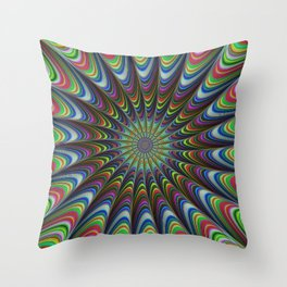 Psychedelic star Throw Pillow