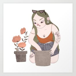 Garden Witch Art Print