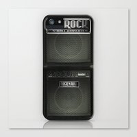 rock n roll Canvas Prints featuring Rock N´Roll amplifier by Nicklas Gustafsson