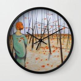 winter woods Wall Clock