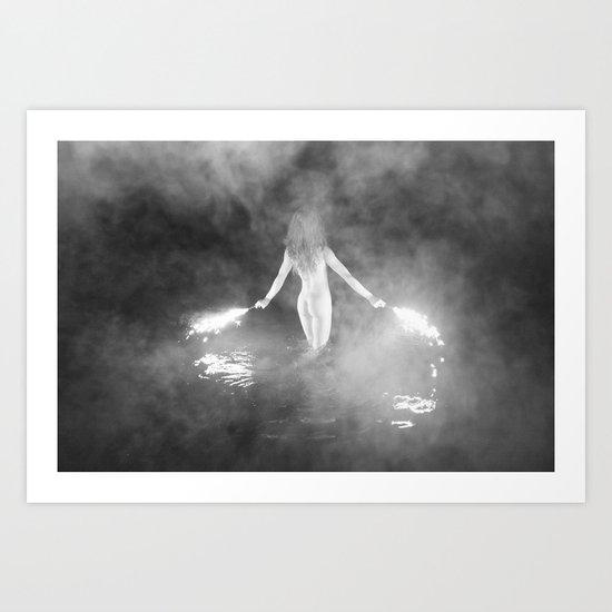 Fire Swim With Me Art Print
