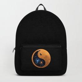 Yin Yang Full Moon and stars Backpack